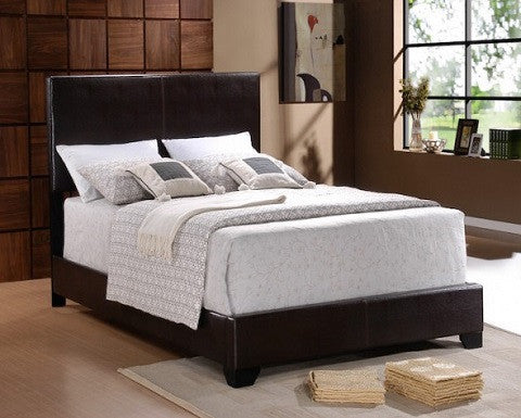 Crown Mark 5271PU-Q Erin Bedframe leather upholstered bed frame