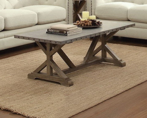 Coaster Webber Wood and Metal Coffee Table