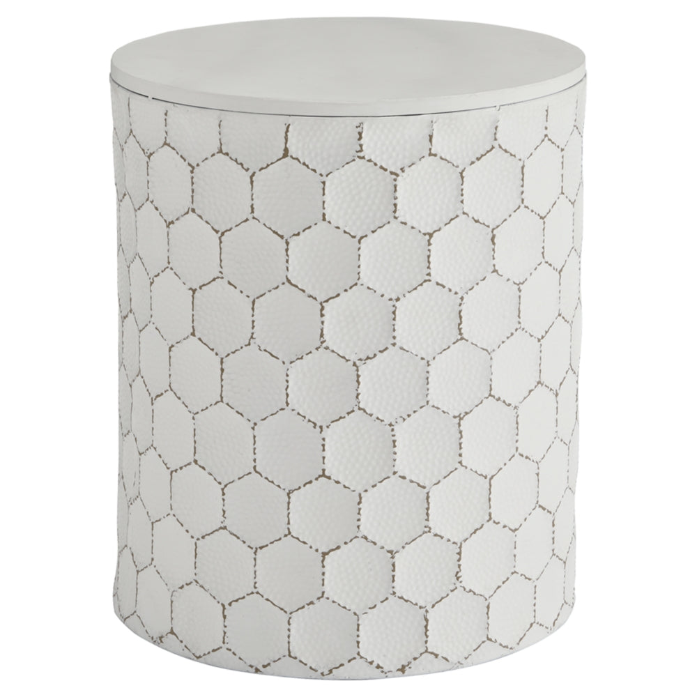Polly Drum End table Ash A3000013
