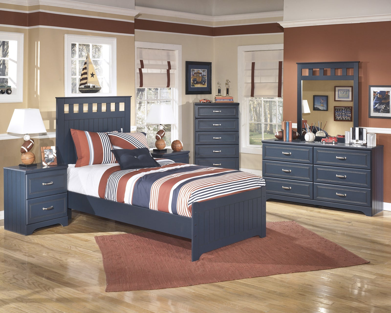 Leo Panel Bedframe #B103 ASH