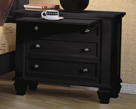 201322 Sandy Beach Black  Night Stand By Coaster