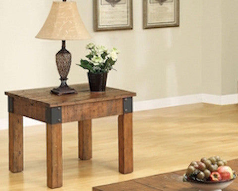 Coaster Rustic Style End Table