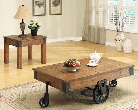 Coaster Rustic Style Coffee Table