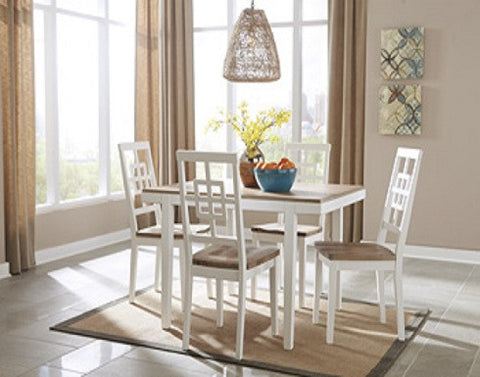 (Ash D298-225) Two-Toned Brovada Table Set