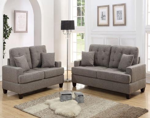 POUNDEX SOFA AND LOVESEAT SET F6501