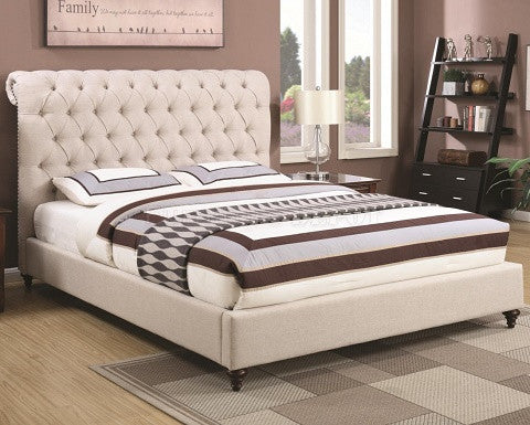 COASTER DEVON UPHOLSTERED BED FRAME