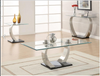 Shearwater Metal and Glass Sofa Table Coaster 701239