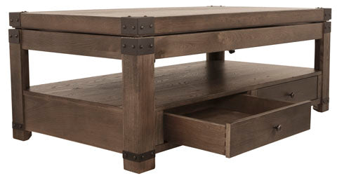 Burladen Lift Top Coffee Table Ash t846-9