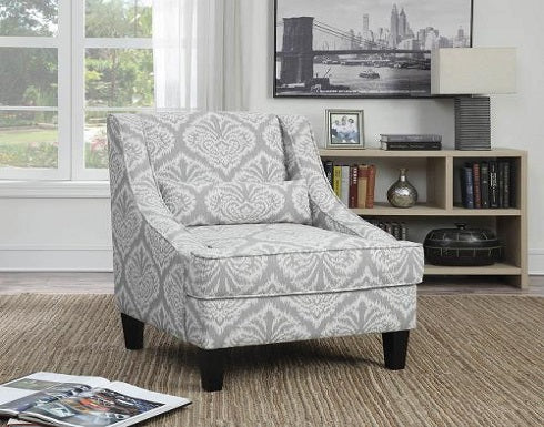 Grey and white accent chair Coa 902412