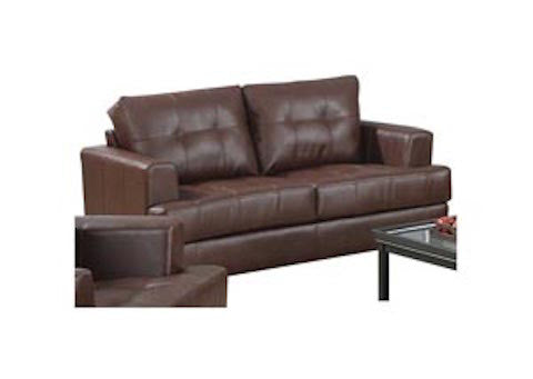 Coaster Samuel Leather Love Seat