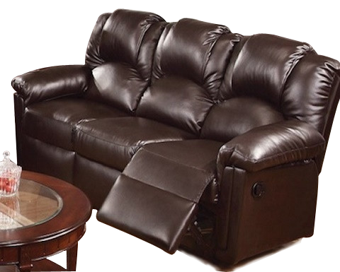 POUNDEX F6675 LEATHER SOFA