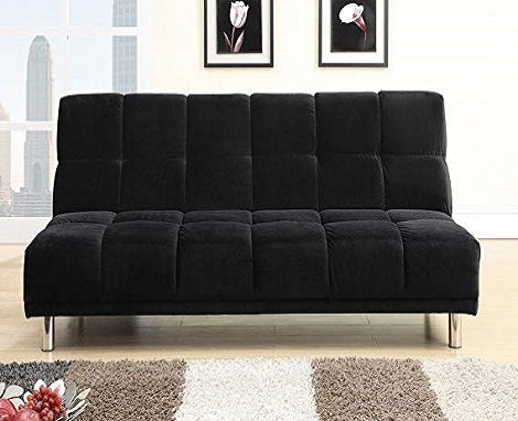 PDX F7008 Black Futon Sofa