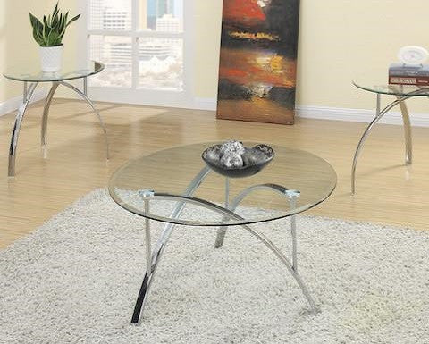 Poundex Furniture F3098 3 Pc Occasional Table Set