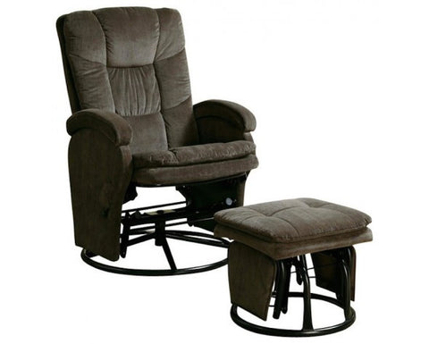 COASTER DELUXE GLIDER WITH OTTOMAN