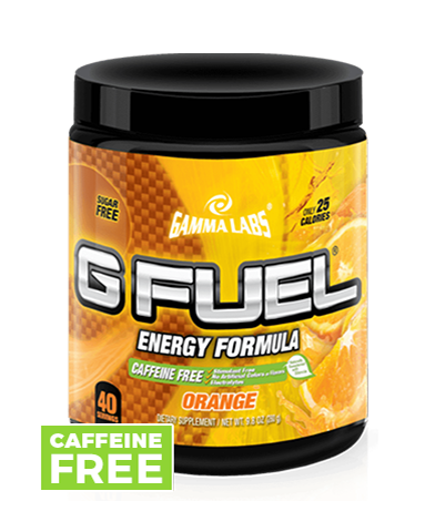 G FUEL Tub - Orange (Caffeine-Free)