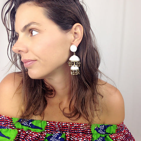 Bonita Earrings - White