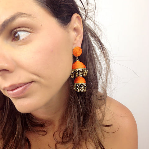 Bonita Earrings - Orange
