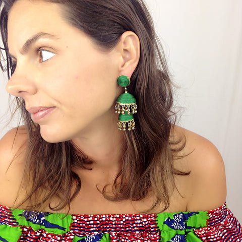Bonita Earrings - Dark Green