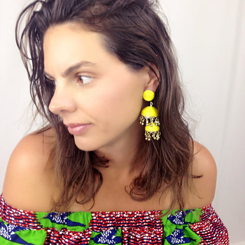 Bonita Earrings - Yellow