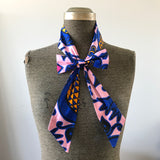 'I Have Arrived' - Pink & Navy Bow tie