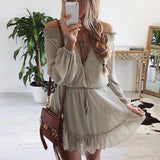 Chiffon Backless strapless Strappy Tunic Shirt Top Blouse