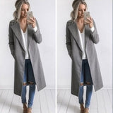 Women's New Double Faced Tweed Pocket Coat