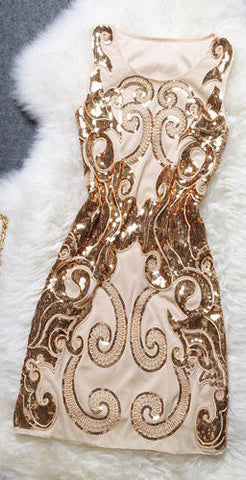 Fashion Embroidered Sequined Dress