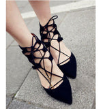Crisscross Strappy Fashion Women Pointed Toe High Heels Shoes