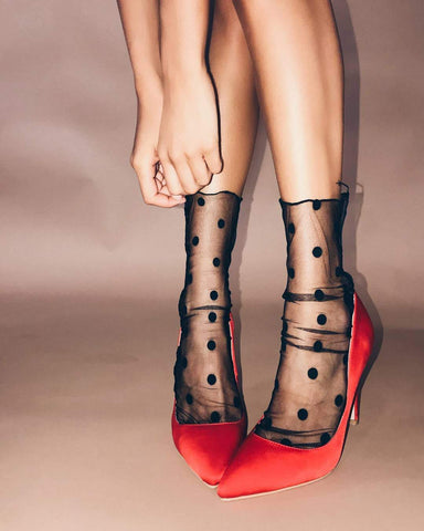 Mesh Wave Point Fashion Socks Stockings