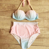 Sexy Gradient Color Bikini Set Swimsuit Swimwear