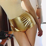 Fashion Leather High Waist Tight Shorts