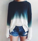 Fashion Gradient Color Top Sweater