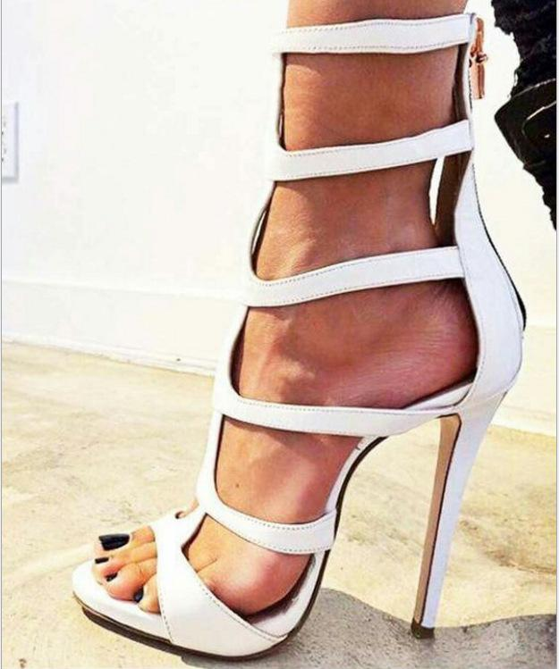 Hollow Peep Toe Women Fashion Sandals High Heels Shoes