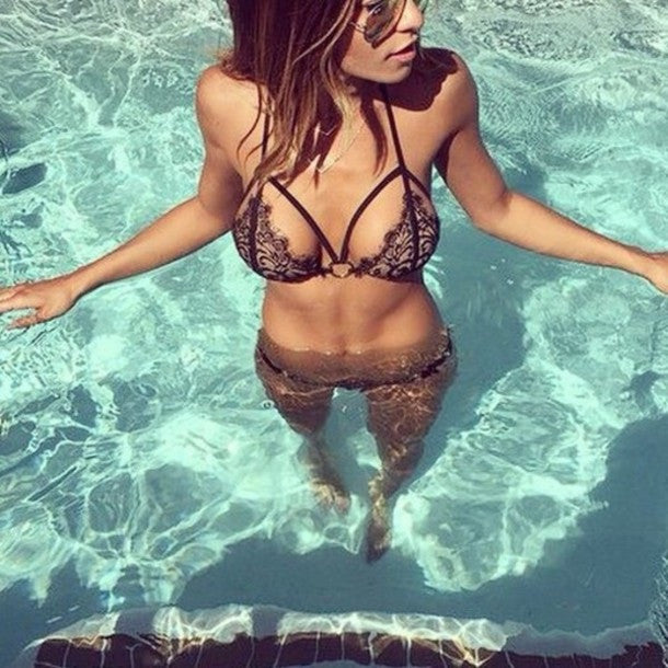 Sexy Lace Bikini Set Swimsuit Swimwear
