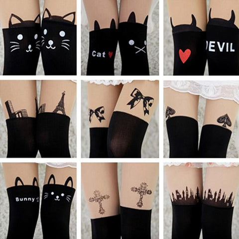 Cute Heart Print Socks Stockings