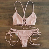 Sexy Strappy Bikini Set Swimsuit Swimwear