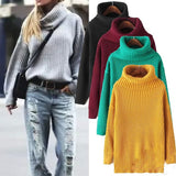 Fashion Loose Solid color Shirt Top Sweater