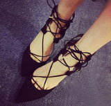 Strappy Hollow Women Fashion Pointed Toe High Heels Shoes