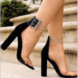 Ankle Strap Fashion Women Sandals Peep Toe High Heels Shoes