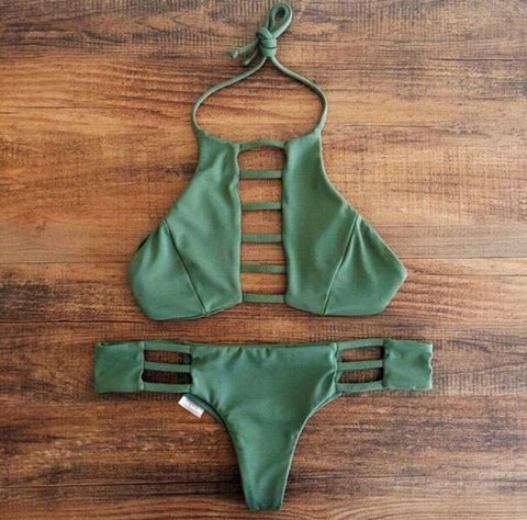 Sexy  Hollow Bikini Set Swimsuit Swimwear