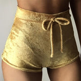 Women Velvet Shorts Fashion Sexy Bodycon Workout Flannel Short Pants Feminino Pantalones Mujer Fitness Soft Sportwear