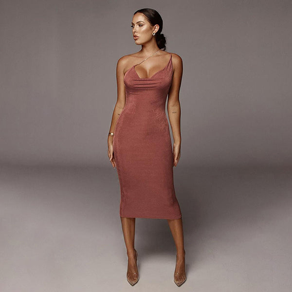 Sexy V-Neck Backless Bodycon Mini Dress