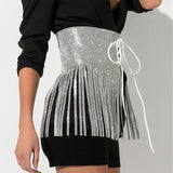 Tassels High Waist Strappy Fashion Skirt