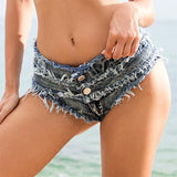 Hole Ripped Fashion Women Denim Shorts