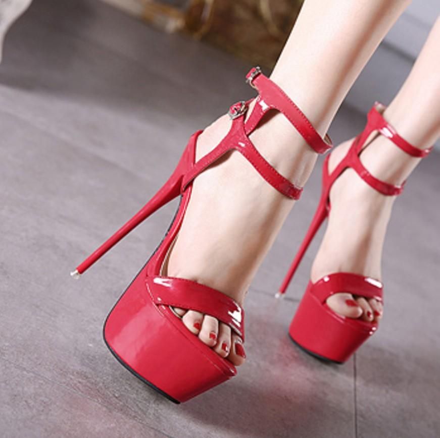 Fashion Buckle Women Platform High Heels Shoes