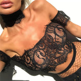 Lace Eyelash Strapless Fashion Shirt Top Tee