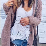 Fashion Loose Cardigan Long Sleeve Jacket Coat Top