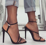 Hot Style Hot Selling Sexy High Heel Side Empty Sandals Shoes