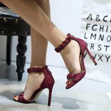 Ankle Strap Women Fashion Sandals High Heels Shoes