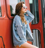 Fashion Denim Cardigan Jacket Coat